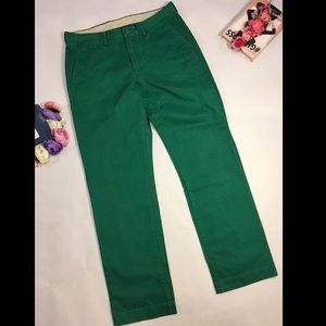 J Crew green slim pants trousers